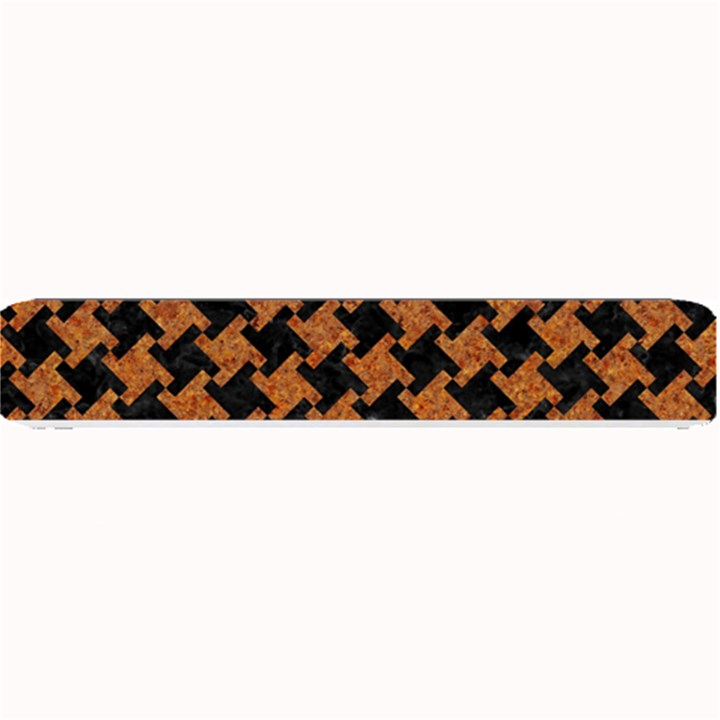 HOUNDSTOOTH2 BLACK MARBLE & RUSTED METAL Small Bar Mats