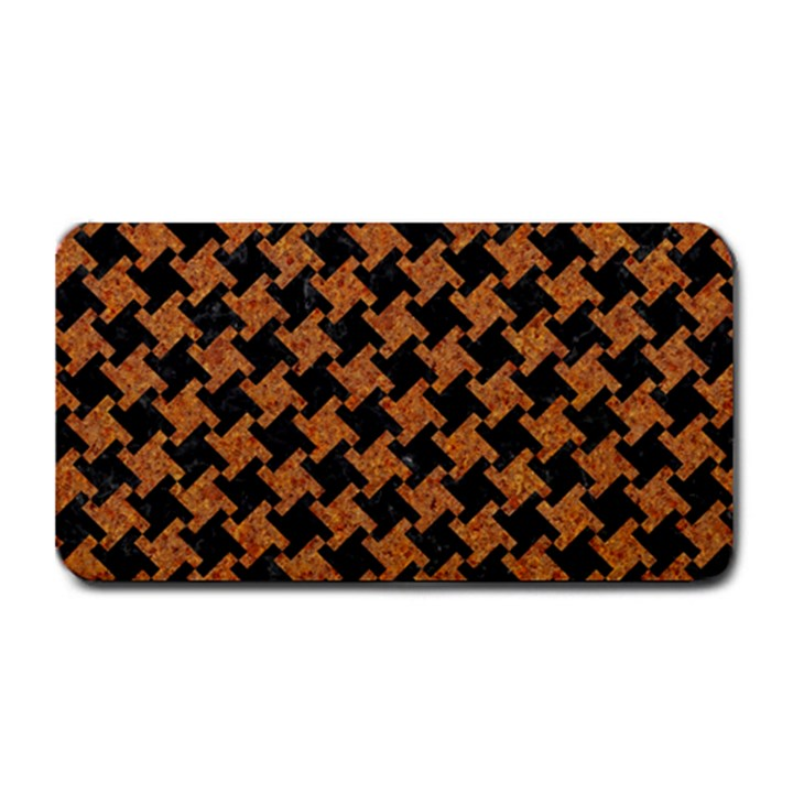 HOUNDSTOOTH2 BLACK MARBLE & RUSTED METAL Medium Bar Mats