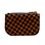 HOUNDSTOOTH2 BLACK MARBLE & RUSTED METAL Mini Coin Purses Back