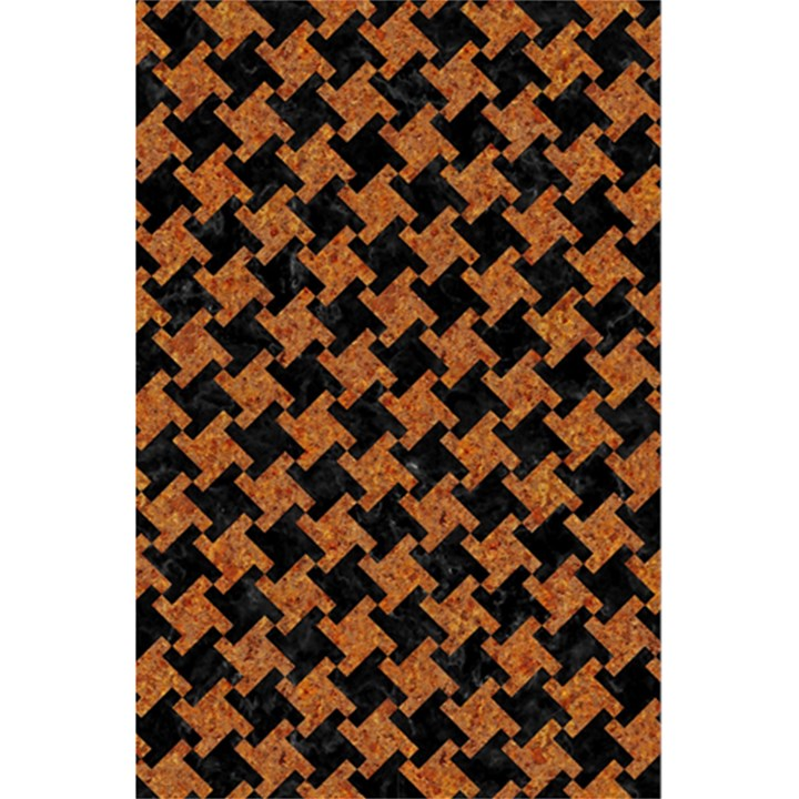 HOUNDSTOOTH2 BLACK MARBLE & RUSTED METAL 5.5  x 8.5  Notebooks