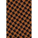HOUNDSTOOTH2 BLACK MARBLE & RUSTED METAL 5.5  x 8.5  Notebooks Back Cover
