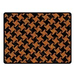 HOUNDSTOOTH2 BLACK MARBLE & RUSTED METAL Fleece Blanket (Small) 50 x40 Blanket Front
