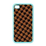 HOUNDSTOOTH2 BLACK MARBLE & RUSTED METAL Apple iPhone 4 Case (Color) Front