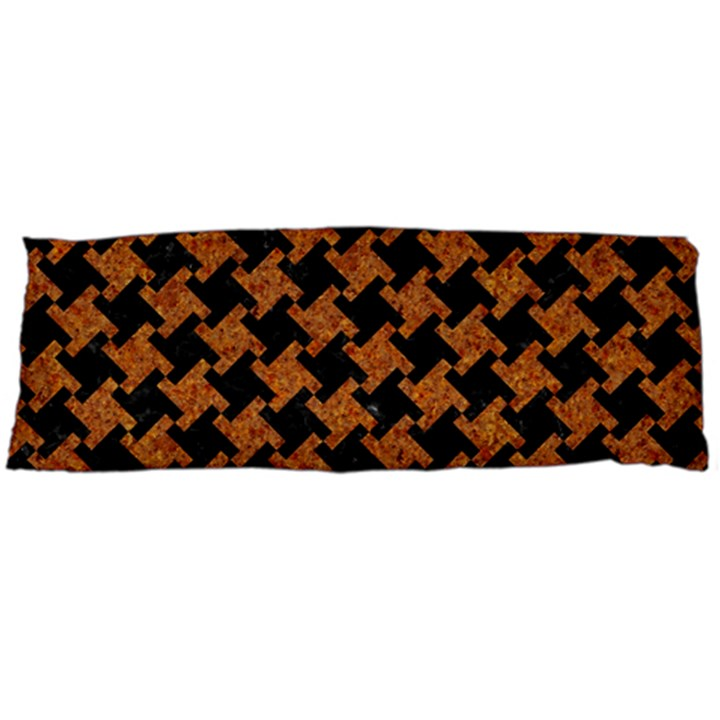 HOUNDSTOOTH2 BLACK MARBLE & RUSTED METAL Body Pillow Case (Dakimakura)