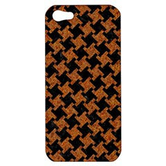 Houndstooth2 Black Marble & Rusted Metal Apple Iphone 5 Hardshell Case by trendistuff