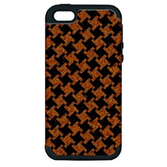 Houndstooth2 Black Marble & Rusted Metal Apple Iphone 5 Hardshell Case (pc+silicone) by trendistuff