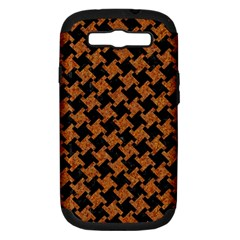 Houndstooth2 Black Marble & Rusted Metal Samsung Galaxy S Iii Hardshell Case (pc+silicone) by trendistuff