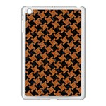 HOUNDSTOOTH2 BLACK MARBLE & RUSTED METAL Apple iPad Mini Case (White) Front