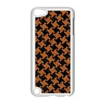 HOUNDSTOOTH2 BLACK MARBLE & RUSTED METAL Apple iPod Touch 5 Case (White) Front