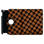 HOUNDSTOOTH2 BLACK MARBLE & RUSTED METAL Apple iPad 3/4 Flip 360 Case Front
