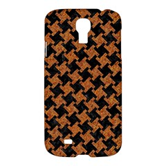 Houndstooth2 Black Marble & Rusted Metal Samsung Galaxy S4 I9500/i9505 Hardshell Case