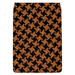 HOUNDSTOOTH2 BLACK MARBLE & RUSTED METAL Flap Covers (L)  Front