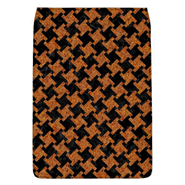 HOUNDSTOOTH2 BLACK MARBLE & RUSTED METAL Flap Covers (L)