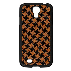 Houndstooth2 Black Marble & Rusted Metal Samsung Galaxy S4 I9500/ I9505 Case (black) by trendistuff