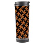 HOUNDSTOOTH2 BLACK MARBLE & RUSTED METAL Travel Tumbler Center