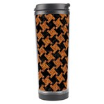 HOUNDSTOOTH2 BLACK MARBLE & RUSTED METAL Travel Tumbler Right