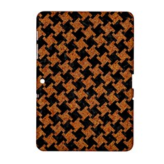 Houndstooth2 Black Marble & Rusted Metal Samsung Galaxy Tab 2 (10 1 ) P5100 Hardshell Case  by trendistuff