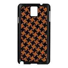 Houndstooth2 Black Marble & Rusted Metal Samsung Galaxy Note 3 N9005 Case (black) by trendistuff
