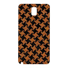 Houndstooth2 Black Marble & Rusted Metal Samsung Galaxy Note 3 N9005 Hardshell Back Case by trendistuff