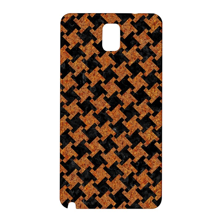 HOUNDSTOOTH2 BLACK MARBLE & RUSTED METAL Samsung Galaxy Note 3 N9005 Hardshell Back Case