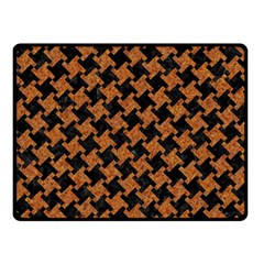 Houndstooth2 Black Marble & Rusted Metal Double Sided Fleece Blanket (small)  by trendistuff