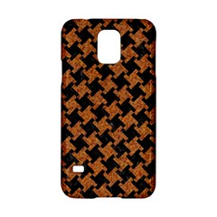 Houndstooth2 Black Marble & Rusted Metal Samsung Galaxy S5 Hardshell Case  by trendistuff