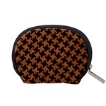 HOUNDSTOOTH2 BLACK MARBLE & RUSTED METAL Accessory Pouches (Small)  Back