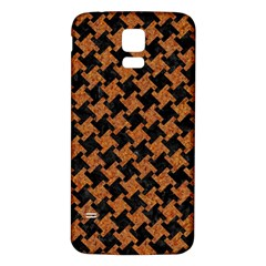 Houndstooth2 Black Marble & Rusted Metal Samsung Galaxy S5 Back Case (white) by trendistuff