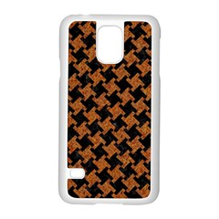 Houndstooth2 Black Marble & Rusted Metal Samsung Galaxy S5 Case (white) by trendistuff