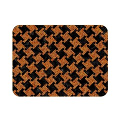 Houndstooth2 Black Marble & Rusted Metal Double Sided Flano Blanket (mini)  by trendistuff