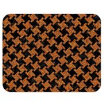 HOUNDSTOOTH2 BLACK MARBLE & RUSTED METAL Double Sided Flano Blanket (Medium)  60 x50 Blanket Front