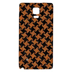 Houndstooth2 Black Marble & Rusted Metal Galaxy Note 4 Back Case by trendistuff
