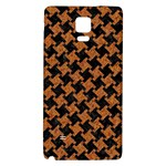 HOUNDSTOOTH2 BLACK MARBLE & RUSTED METAL Galaxy Note 4 Back Case Front
