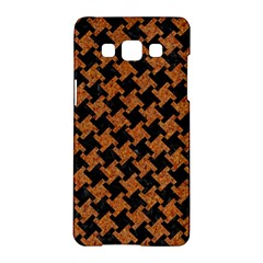 Houndstooth2 Black Marble & Rusted Metal Samsung Galaxy A5 Hardshell Case  by trendistuff