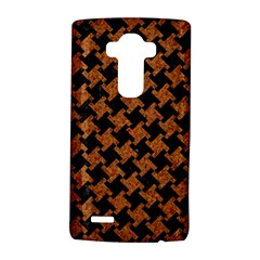 Houndstooth2 Black Marble & Rusted Metal Lg G4 Hardshell Case