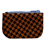 HOUNDSTOOTH2 BLACK MARBLE & RUSTED METAL Large Coin Purse Back