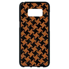 Houndstooth2 Black Marble & Rusted Metal Samsung Galaxy S8 Black Seamless Case