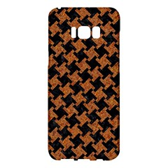 Houndstooth2 Black Marble & Rusted Metal Samsung Galaxy S8 Plus Hardshell Case  by trendistuff
