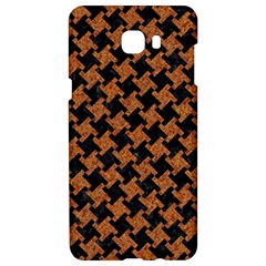 Houndstooth2 Black Marble & Rusted Metal Samsung C9 Pro Hardshell Case  by trendistuff
