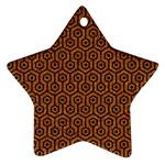 HEXAGON1 BLACK MARBLE & RUSTED METAL Ornament (Star)