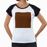 HEXAGON1 BLACK MARBLE & RUSTED METAL Women s Cap Sleeve T