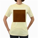 HEXAGON1 BLACK MARBLE & RUSTED METAL Women s Yellow T-Shirt