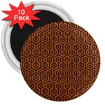 HEXAGON1 BLACK MARBLE & RUSTED METAL 3  Magnets (10 pack)