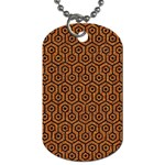 HEXAGON1 BLACK MARBLE & RUSTED METAL Dog Tag (One Side)