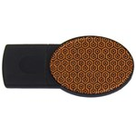 HEXAGON1 BLACK MARBLE & RUSTED METAL USB Flash Drive Oval (2 GB)
