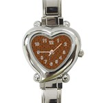 HEXAGON1 BLACK MARBLE & RUSTED METAL Heart Italian Charm Watch