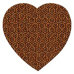 HEXAGON1 BLACK MARBLE & RUSTED METAL Jigsaw Puzzle (Heart) Front