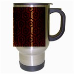 HEXAGON1 BLACK MARBLE & RUSTED METAL Travel Mug (Silver Gray) Right