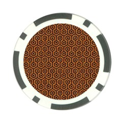 Hexagon1 Black Marble & Rusted Metal Poker Chip Card Guard (10 Pack) by trendistuff