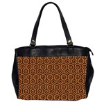 HEXAGON1 BLACK MARBLE & RUSTED METAL Office Handbags (2 Sides)  Front